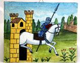 tavoletta affresco castello  cm 20 x 24