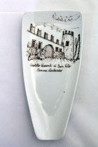 Posa cucchiaio vela castello seppia cm 17 x 8