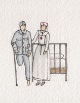 infirmière et blessé de 1914 (1)