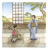 Japonaise au shamisen