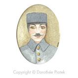 Portrait oval soldat