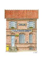 Bureau de poste  WARLUIS (60)