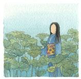 Japonaise dans les champs