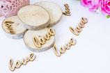 20 Love Streudeko Holz Herzen
