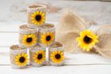 Sunflower Napkin Rings Burlap Table Decor