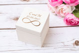 White Infinity Wooden Box Square