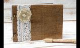 Holz Gästebuch A4