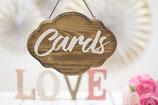 Karten Schild aus Holz