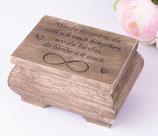 Hochzeit Ring Box mit Spruch
