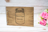 Rustic Jar Hochzeit Gästebuch A5