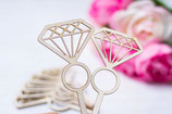 Diamond Cup cake toppers x 12