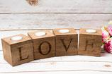 Kerzenständer Love Holzkerzenständer
