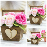 Wooden Table Number Wedding Centerpiece Basket
