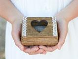 Hochzeit Herz Ring Träger Box Schachtel Herz