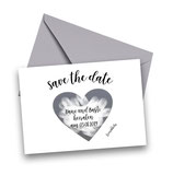 Rubbellose Save the Date Karten - Silber Sticker