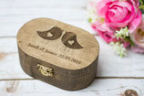 Hochzeit Ring Kasten Ringschale RIng Box Love Birds Oval