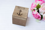 Personalized Ring Box Anchor Ring Holder square