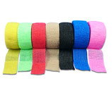 Bunter Farb-Mix 7er Set LisaCare Pflasterverband 2,5cm Breite x 4,5m Länge