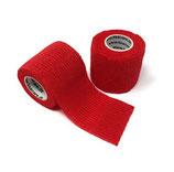 LisaCare Fixierbinde 5cm Breite x 4,5m Länge | 2er-Set Farbe Rot | Kohäsive Bandage | Wundverband | Pflasterverband | elastisch, dehnbar, selbsthaftend, ohne Kleber