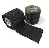 LisaCare Fixierbinde 5cm Breite x 4,5m Länge | 2er-Set Farbe schwarz + Camo-grün | Kohäsive Bandage | Wundverband | Pflasterverband | elastisch, dehnbar, selbsthaftend, ohne Kleber