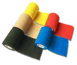 Kohäsive Elastische Sportbandage Fixierbinde Selbsthaftend - 3er Set - 7,5cm Breit x 4,5m dehnbar FarbMix unsortierte Farben