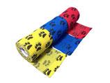 Bunter Pfoten-Mix 3er Set LisaCare Pflasterverband 7,5cm Breite x 4,5m Länge