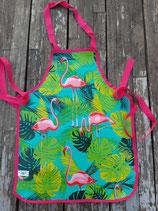 Flamingo groen/blauwe achtergrond