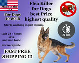 100 Flea Killer Capsules Bulk Sale for Dogs 40-80lb