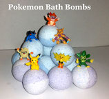 Pokemon Bath Bombs lot of 6 Bombs super Lush - for Cold and Flu with Eucalyptus
