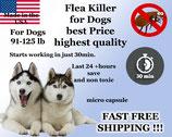 100 Capsules of Flea Killer Nitenpyram 91-125 lb for Dogs super sale Promotion 74mg