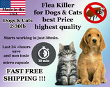 100 Flea Killer Capsules Bulk Sale for Dogs and Cats 2-30lb