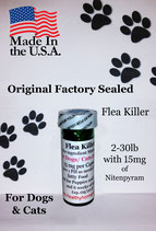 Bulk 100 flea killer 2-30 lb and 15 mg of Nitenpyram