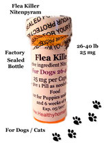 Flea Killer Nitenpyram 12 Capsules for Dogs 26-40 lb + 1 Free Flea Killer