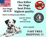 100 Flea Killer Capsules Bulk Sale for Dogs 60-91lb