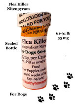 Flea Killer  Nitenpyram 100 Capsules for Dogs 60-91 lb