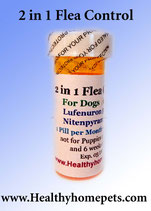 2in1 Flea Control & Killer 6 month Supply of Lufenuron and Nitenpyram for Dogs / Cats 2-15lb