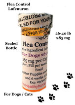 Flea Control Lufenuron 3 month supply for Dogs 26-40 lb + 1 Free Flea Killer