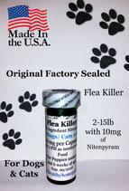 Bulk 100 flea killer 2-15 lb and 10 mg of Nitenpyram