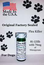 Flea Killer Nitenpyram 50 capsules supply for Dogs 81-125 lb + 1 Free Flea Killer