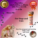 Flea Killer  Nitenpyram 50 capsules supply for Dogs and Cats 2-15 lb + 1 Free Flea Killer