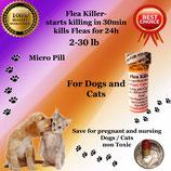 Flea Killer  Nitenpyram 50 capsules supply for Dogs and Cats 2-30 lb + 1 Free Flea Killer