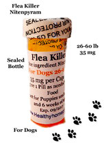 Flea Killer Nitenpyram 25 Capsules for Dogs 26-60 lb + 1 Free Flea Killer