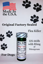 Flea Killer  Nitenpyram 25 month supply for Dogs 125-165 lb + 1 Free Flea Killer