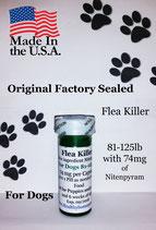 Bulk 100 flea killer 81-125 lb and 74 mg of Nitenpyram