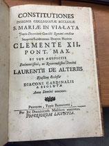 CONSTITUTIONES INSIGNIS COLLEGIATAE ELLESIAE S. MARIA IN VIA-LATA.