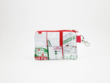White and Red Mask Pouch, disinfectable