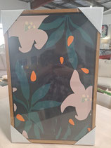 BRAND NEW Framed Abstract Flowers