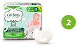 Pannolini 100% cotone bio sulla pelle Cottony