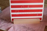 Art Postkarte Gute Besserung rot