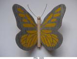 Papillon (PPD_16xx) - Ailes marquetées sur les 2 faces - décoration à suspendre